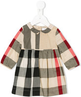 Burberry checkered dress - kids - Cotton - 12 mth
