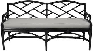 David Francis Furniture Chippendale Bench - Black