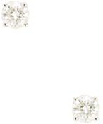 14K White Gold & 0.25 Total Ct. Diamond Stud Earrings