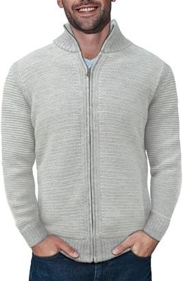 X-Ray Men's Regular-Fit Full-Zip High-Neck Sweater Jacket
