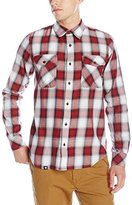 Lrg Men's Syndicate Long Sleeve Poplin Woven Shirt