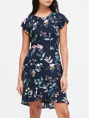 Banana Republic Petite ECOVERO Flutter-Sleeve Mini Dress