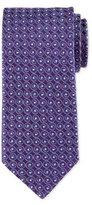Eton Swirl-Print Silk Tie, Purple