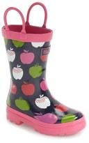 Hatley Toddler Girl's Nordic Apples Waterproof Rain Boot