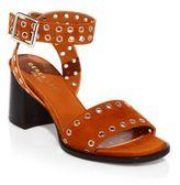 Derek Lam Jacqui Grommeted Suede Block Heel Sandals