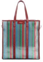 Balenciaga Bazar Medium striped mesh tote