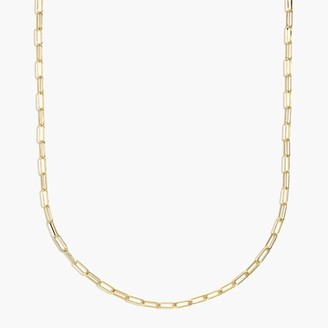 J.Crew T-bar paper link chain necklace