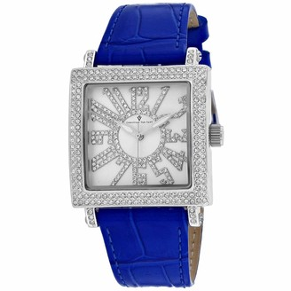 Lumina Christian Van Sant Women's Stainless Steel Quartz Leather Strap Blue 20 Casual Watch (Model: CV0241)