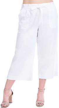 Fever Plus Size Cropped Pull-On Pants