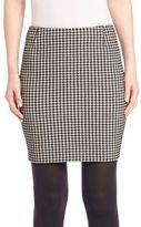 Akris Punto Mini Houndstooth Skirt