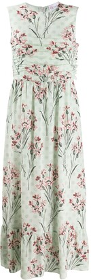 RED Valentino Floral Print Sleeveless Long Dress