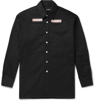 Raf Simons Logo-Appliqued Denim Overshirt - Men - Black
