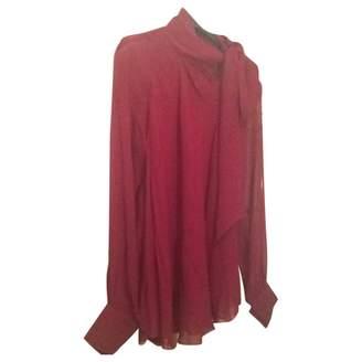 Vivienne Tam Burgundy Silk Top for Women