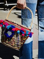Free People Embellished Straw Basket