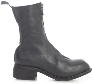 Guidi Mid Front Zip Boots Sole Leather