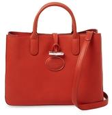 Longchamp Roseau Heritage Leather Medium Tote