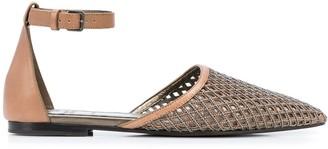 Brunello Cucinelli Embellished Net Sandals