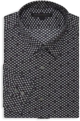 John Varvatos Printed Dress Shirt