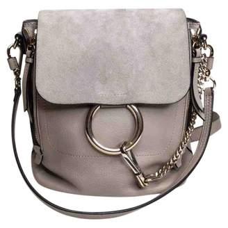 Chloé Faye Grey Leather Backpacks