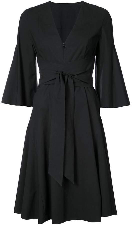Josie Natori V-Neck tie wrap dress