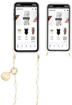 Rosantica faux pearl-embellished iPhone X case