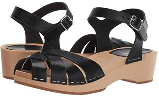 Swedish Hasbeens Magdalena (Black) Women's Sandals
