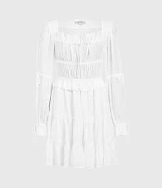AllSaints Kimi Short Silk Blend Dress