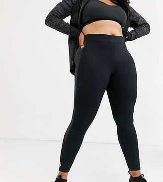 Only Play Hiss curvy running tights in black