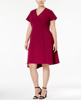 Anne Klein Plus Size Asymmetrical-Hem Fit and Flare Dress