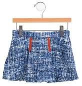 Oscar de la Renta Girls' Wool Bow-Accented Skirt