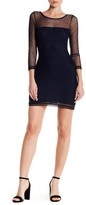 Lucca Couture Boatneck Long Sleeve Mesh Dress
