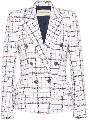 Alexandre Vauthier Houndstooth Double-Breasted Blazer