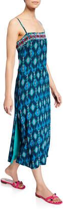 Figue Olatz Iznik Ikat-Print Long Cami Dress