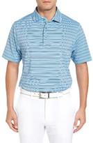 Bobby Jones Men's Xh20 Cero Stripe Stretch Golf Polo