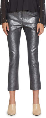 Walter Baker Leo Cropped Metallic Skinny Ankle Pants