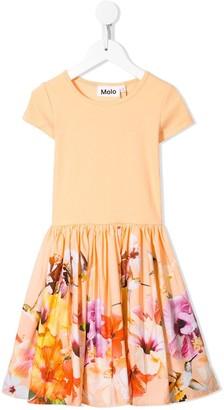 Molo Floral Hummingbird Print Midi Dress