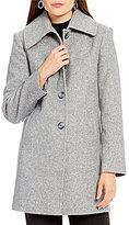 Preston & York A-Line Wool Envelope Collar Walker Coat