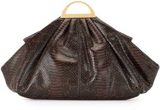 THE VOLON Snake Print Tote Bag
