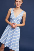 Anthropologie Striped Poplin Dress
