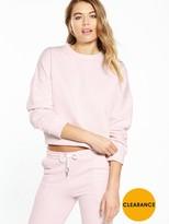 Nicce Crop Sweat - Pink
