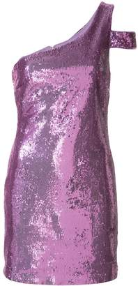 LIKELY sequinned one-shoulder dress