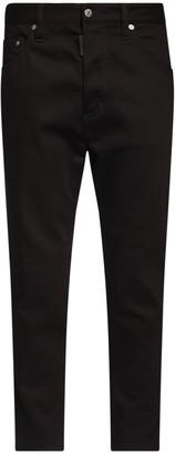 DSQUARED2 15cm Twist Zip Cotton Denim Jeans