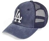 American Needle Men's 'Los Angeles Dodgers - Raglan Bones' Mesh Trucker Cap - Blue
