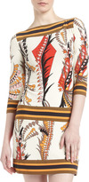 Ali Ro Bateau-Neck Printed Shift Dress