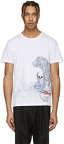 Alexander McQueen White Tiger and Skull T-shirt