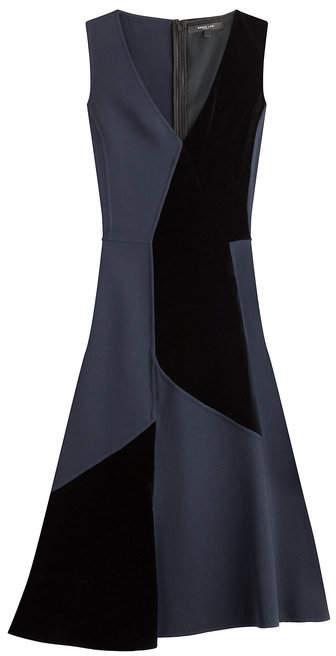 Derek Lam Patchwork Wool Dress