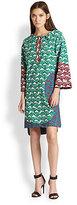 Tsumori Chisato Shell Mixed-Print Paneled Cotton Dress