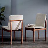 west elm Framework Upholstered Dining Chair - Stone (Twill)