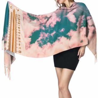 Yushg Cute Warm Fashion Beautiful Sun Wrap Shawl Fringe Scarf Womens Lightweight Scarf 77x27inch/196x68cm Large Soft Pashmina Extra Warm