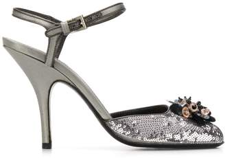 Prada Pre-Owned 2000's sequin embellished sandals